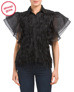 Fringed Mesh Top