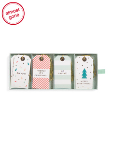 Set Of 16 Modern Geo Holiday Gift Tags