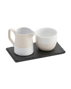Stoneware Milk & Sugar Set
