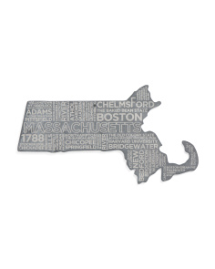 Made In USA Massachusetts Etched Cheese Board