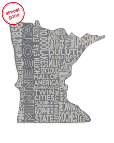 Minnesota Etched Cheese Board
