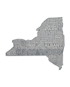 New York Etched Cheese Board