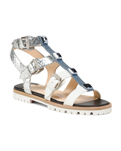 Made In Italy Adjustable Leather Sandals