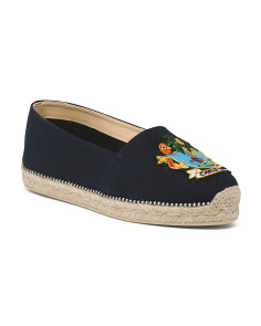 Made In Italy Slip On Canvas Espadrilles
