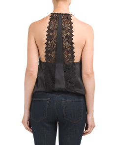 Silk Lace Back Camisole