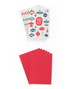 Set Of 6 Jingle All The Way Holiday Cards