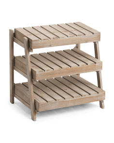 Wooden Display Crate Stand