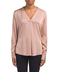 Silk Blend Crossover Top
