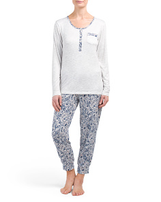 Henley And Leggings Pajama Set