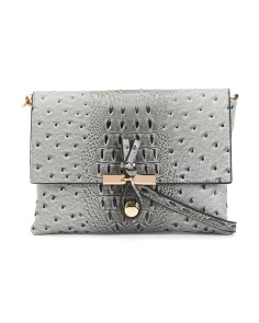 Textured Leather Crossbody