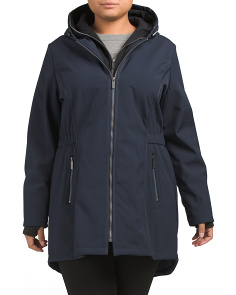 Plus Softshell Hooded Coat