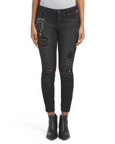 Juniors Embellished Destructed Jeans