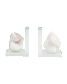 Set Of 2 Geode Bookends