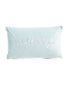 12x20 Soft Velvet Family Pillow