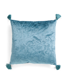 19x19 Embossed Velvet Pillow