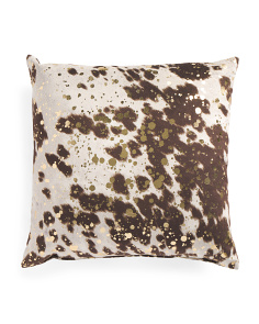 Made In USA 22x22 Cow Print Pillow