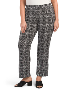 Plus Yoruba Graphic Pull On Pants