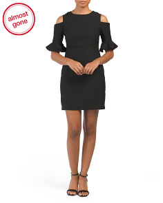 Petite Emily Cold Shoulder Dress