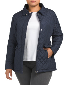 Plus Diamond Quilted Jacket