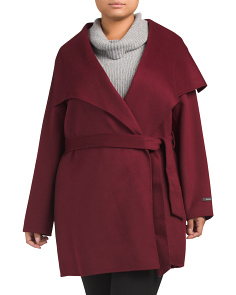 Plus Ella Wool Wrap Coat