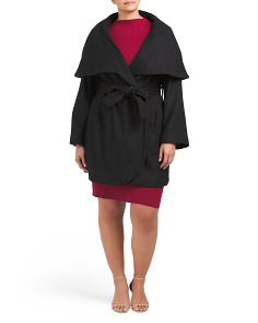 Plus Marla Wool Wrap Coat
