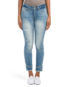 Juniors Double Frayed Jeans