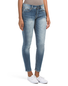 Juniors Two Tone Skinny Jeans