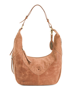 Tanvi Leather Hobo Bag