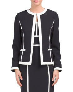 Open Front Panel Jacket