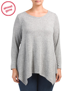 Plus Made In USA Soft Draped Sweater