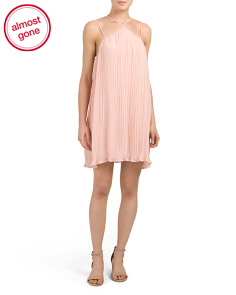Juniors Pleated Dress