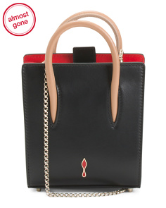 Made In Italy Paloma Nano Mini Leather Tote