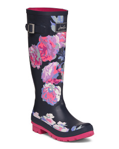 High Shaft Rain Boots With Buckle