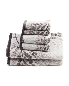 6pc Enchanted Leaf Towel Set