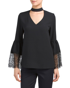Lace Bell Sleeve Blouse