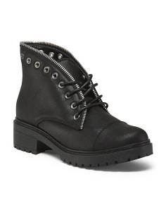 Lug Sole Work Booties
