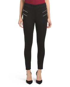 Petite Zipper Detail Leggings