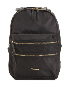 Nylon Zip Backpack