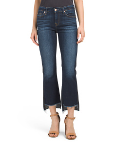 Cropped Boot Jeans With Step Hem