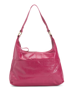 Leather Stitch Front Hobo