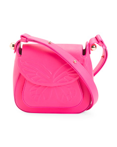 Made In Italy Evie Butterfly Leather Shoulder Bag