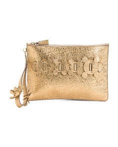 Made In Italy Circulus Leather Clutch