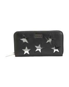 Made In Italy Metallic Stars Zip Wallet