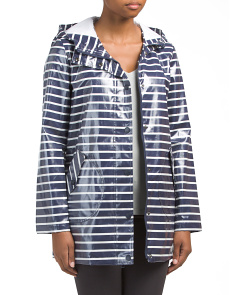 Striped Rain Slicker Jacket