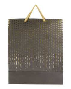 Jumbo Metallic Dots Gift Bag