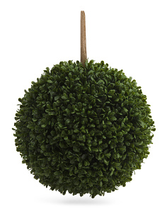 10in Faux Boxwood Kissing Ball