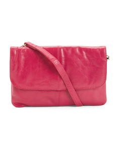 Leather Flap Crossbody
