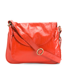 Leather Messenger Crossbody
