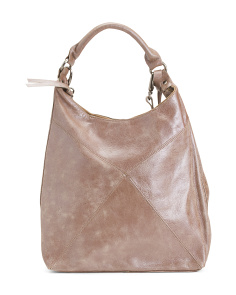 Leather Tassel Hobo