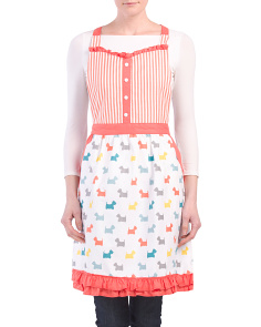 Made In India Sweetheart Ruffle Printed Apron